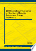 2013 International Conference On Machinery Materials Science And Energy Engineering Book PDF