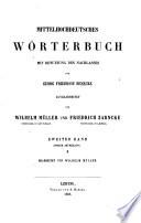 Mittelhochdeutsches Wörterbuch: p.1. M-R