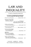 Law   Inequality Book