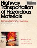 Highway Transportation Of Hazardous Materials