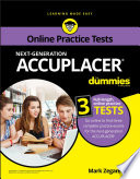 Accuplacer For Dummies With Online Practice Book