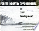 Forest industry opportunities in rural development