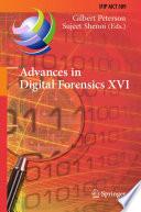 Advances in Digital Forensics XVI Book