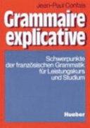 Grammaire explicative