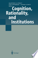 Cognition  Rationality  and Institutions Book