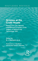 Science at the Cross Roads (Routledge Revivals)