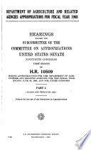 Agricultural Appropriations for ...