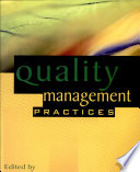 Quality Management Practices Book PDF