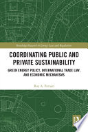 Coordinating Public and Private Sustainability