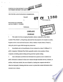 Blue Bottle Limited and Matthew C. Stokes: Securities and Exchange Commission Litigation Complaint