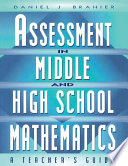 Assessment in Middle and High School Mathematics Book PDF