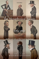 Pdf The Metaphysical Society (1869-1880) Telecharger