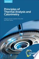 Principles of Thermal Analysis and Calorimetry