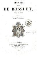 Oeuvres complètes de Bossuet, évêque de Meaux