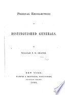 Personal Recollections of Distinguished Generals Book