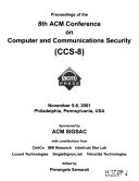 Proceedings Of The 8th Acm Conference On Computer And Communications Security