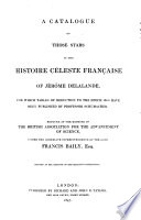 A catalogue of those stars in the  histoire c  leste fran  aise  of Jerome de Lalande  for which tables of reduction to the epoch 1800 have been published by Prof  Schumacher
