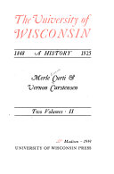 The University of Wisconsin  1848 1925