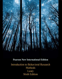 Introduction to Behavioral Research Methods  Pearson New International Edition