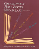 Groundwork for a Better Vocabulary Book