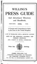 Willing S Press Guide And Advertisers Directory And Handbook