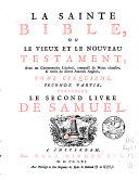 La sainte Bible ou Le Vieux et le Nouveau Testament