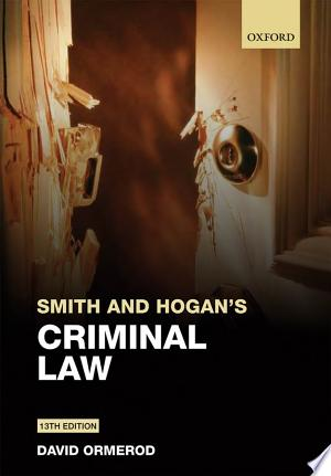 Download Smith and Hogan's Criminal Law Free Books - Reading Bestseller Books For Free