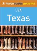 Texas  Rough Guides Snapshot USA