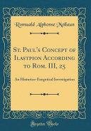 St Paul S Concept Of Ilastepion According To Rom Iii 25