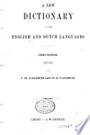 A New Dictionary of the English and Dutch Languages Book