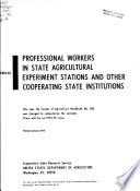 1975-75 Professional Workers in State Agricultural Experiment Stations and Other Cooperating State Institutions