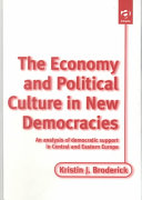 The Economy and Political Culture in New Democracies