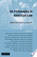 On Philosophy in American Law