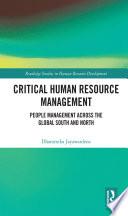 Critical Human Resource Management