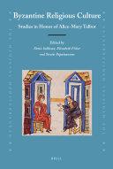 Byzantine Religious Culture