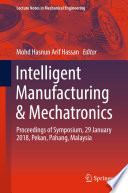 Intelligent Manufacturing Mechatronics Book PDF