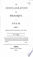The Conflagration and Soliloquy. A Poem. Second Edition Enlarged, with Notes