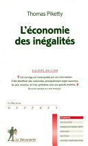 L'économie des inégalités ebook