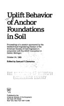 Uplift Behavior of Anchor Foundations in Soil