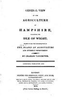 Agricultural Surveys  Hampshire  1813
