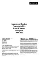 International Tourism Forecasts to 2015