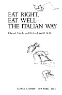 Eat Right  Eat Well  the Italian Way