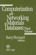 Computerization and Networking of Materials Databases