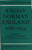 anglo-norman england 1066-1154
