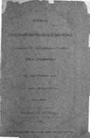 Lehrbuch der historisch-kritischen Einleitung in die kanonischen und apokryphischen Schriften des Alten Testamentes. Zweite vermehrte und verbesserte Auflage