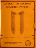 Antiquities Section Selected Papers