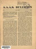 AAAS Bulletin