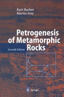 Petrogenesis of Metamorphic Rocks Pdf/ePub eBook