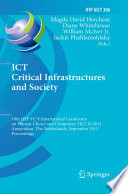 ICT Critical Infrastructures and Society