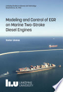 Modeling and Control of EGR on Marine Two-Stroke Diesel Engines
